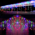 Multi-color 13-130FT LED Christmas Fairy Icicle Curtain Lights Lamp Xmas Outdoor