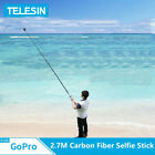 TELESIN 106 inch 35inch Carbon Fiber Selfie Stick For GoPro Max Insta360 ONE R