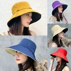 Kyпить Women Sun Hat Bucket Hat Reversible Double Sided UV Protection Summer Cap на еВаy.соm