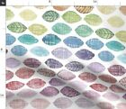Leaves Nature Sketch Watercolor Rainbow Unisex Spoonflower Fabric by the Yard