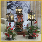 Lighted LED Lantern Lamp Post Floral Holiday Christmas Centerpiece Table Decor