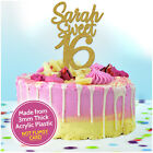 16th Birthday Cake Topper for Girls Her PERSONALISED Sweet Sixteen 16 Decoration