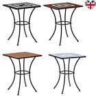 Mosaic Bistro Table Ceramic Side Coffee Table Patio Garden Furniture Café UK
