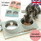 Cat Double Bowls with Raised Stand Pet Food Water Bowl Dog Cat Feeder Pets Bowl