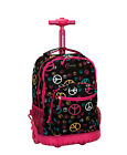"Rockland Luggage 19"" Rolling Backpack Wheels Laptop Compartment Side Pocket"
