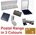 'Slim Leatherette Jewellery Display Gift Boxes Large Letter Size Black Blue Grey
