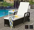 Rattan Day Bed Garden Furniture Outdoor Patio Reclining Sun Lounger Black Brown
