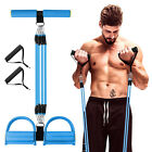 4 Tube Puller Pedal Elastic Sit Up Pull Rope Tension Bands Rope Fitness Home Gym