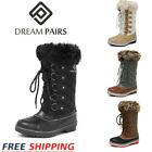 DREAM PAIRS Women's Waterproof Winter Snow Boots Faux Fur Warm Mid Calf Boots