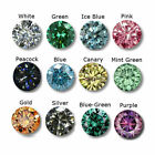 Loose Moissanite Genuine Round Cut Mixed Color 1.00 to 5.00 Ct VVS1 Use For Ring
