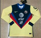 2020-2021 Club America Home Soccer Jersey Soccer Jersey Long sleeves szie S-2XL
