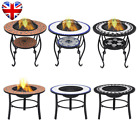 Garden Fire Pit BBQ Mosaic Tile Table Outdoor Cooking Barbeque Firepit Table New