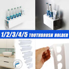 Wall Mounted Electric Toothbrush + Toothpaste Holder Bathroom Organiser -/