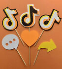 TikTok / Tik Tok Halloween Cupcake Toppers Icons / Candy Corn themed