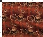 Gears Steampunk Vintage Abstract Geometric Spoonflower Fabric by the Yard