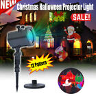 12 Pattern Christmas Halloween LED Projector Light Outdoor Waterproof Decor Lamp