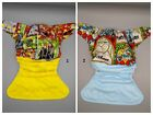 SassyCloth OS pocket cloth diaper with magic school wizards stained glass cotton
