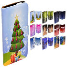 For Huawei Series - Christmas Tree Theme Print Wallet Mobile Phone Cover #2