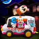 Holidayana 8 ft Inflatable Halloween Clown Ice Cream Truck Yard Decoration - 8 f