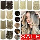 Clearance AAA+ Hidden Halos Invisible Wire In One Piece Hair Extensions As Human