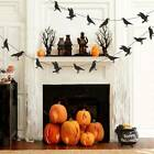 Halloween Black Flying Bird Crow Garlands Banner Flag Ghost Hanging Party Decors