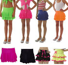 NEON RARA SKIRT DANCE 80'S FANCY DRESS PARTY TUTU GIRLS KIDS AGE 4-12