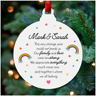 Personalised Lockdown Christmas 2020 Bauble Keepsake Family Rainbow Decoration