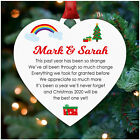 PERSONALISED Christmas Decoration 2020 Lockdown Bauble Ornament Family Gifts