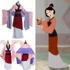Adult Women Girls Fancy Dress Cosplay Costume Hua Mulan Pink Hanfu Halloween