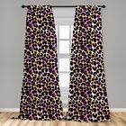 Leopard Print Microfiber Curtains 2 Panel Set for Living Room Bedroom in 3 Sizes