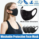 Breathable Face Mask Washable Reusable Anti-fog Face Cover Filter Respirator Us