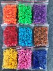 100 x NUMBERED 8MM PIGEON LEG CLIP CLICK RINGS BANDS BREEDER STOCK LOFT COLOURS