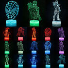 Marvel Superhero 3D LED Night Light 7 Colors Changing USB Touch Desk Lamp Decor