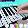 More images of Keyboard or Piano Stickers 37 / 49 / 61 / 88 Key Set Musical Scale Note Trainer  D3