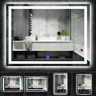Bathroom Mirror With Lights Large Wall Mirror Lighted Led Illuminated Demister