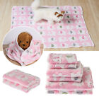 Cushion Flannel Soft Cotton Blanket Cat Bed Pad Pet Mat Sleeping Accessories