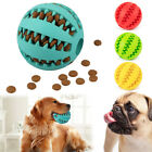 Pet Chew Touch Treat Training Tumbler Toy Puppy Dog Durable Rubber Ball Play Fun