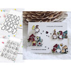 Little Gnome Agenda Clear Stamps with Cutting Die Diy Scrapbooking Paper Cards C