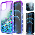 For iPhone 12 Pro Max Case Clear Glitter Bling TPU Cover/Screen Camera Protector