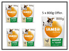 IAMS for Vitality Small/Medium Adult Dog Food Fresh Chicken 5 x 800g from £2.92