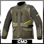 Alpinestars Andes V3 Drystar Mens All Weather Motorcycle Jacket Military Green