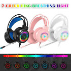 M10 Gaming Headset RGB LED Wired Headphones Stereo with Mic For One PS4 PC Xbox