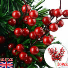 10pcs/set Christmas Red Berry Holly Branch Artificial Flower Home Party Decor