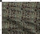 Grunge Steampunk Pipes Gears Spoonflower Fabric by the Yard