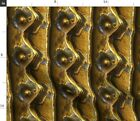 Metal Decay Steampunk Brass Rivets Riveted Metal Spoonflower Fabric by the Yard