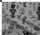Skeleton Halloween Medical Anatomy Steampunk Spoonflower Fabric by the Yard