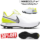 NIKE GOLF SHOES NIKE REACT INFINTY PRO MENS GOLF SHOES ** LIMITED STOCK ** WHITE