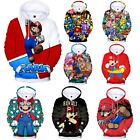 Men Women Teens Super Mario Hoodies Casual Hooded Pullover Sweatshirt Jumper