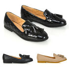 Womens Slip On Flat Loafers Ladies Tassel Quilted Mocassins Ballet Shoes 3-8