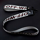US OFF WHITE Industrial Keychain Belt Strap Phone Holder Lanyard Silver